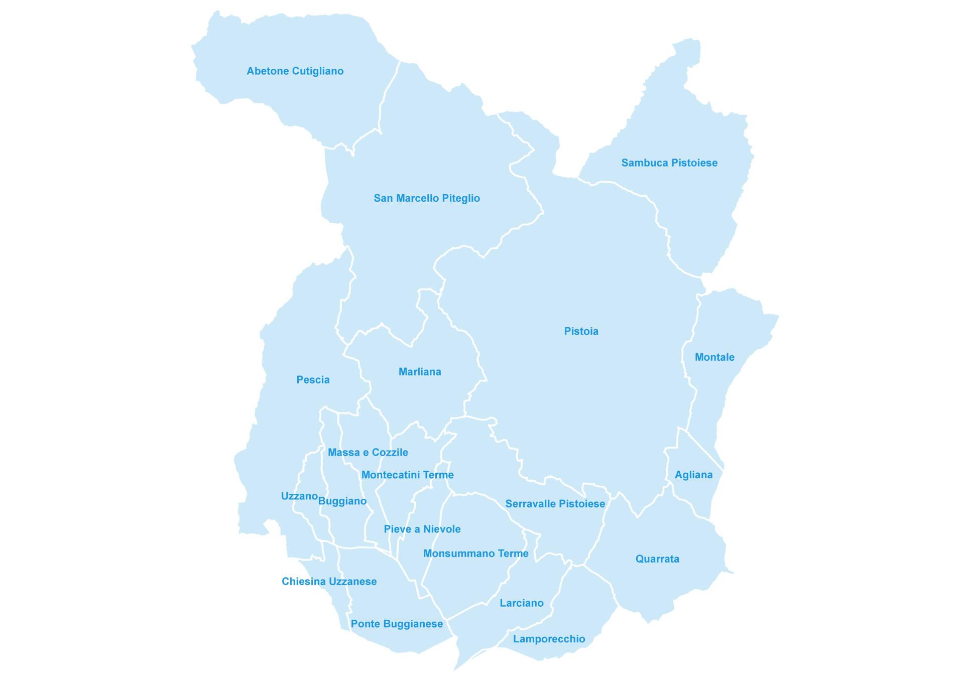 Cartina Della Toscana Con Tutti I Comuni.I Comuni Della Provincia Di Pistoia Provincia Pistoia